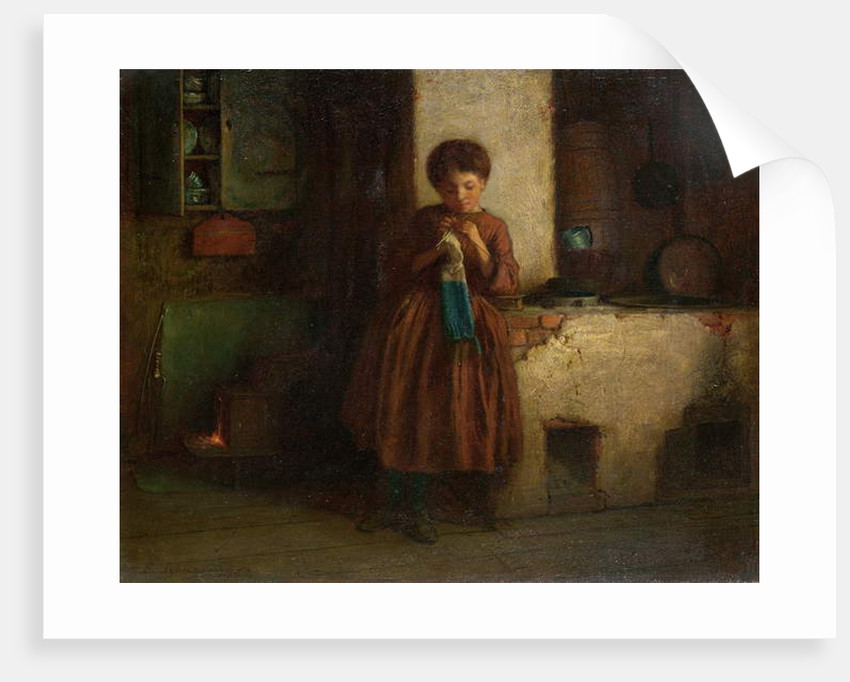 Knitting for the Soldiers, 1861 by Eastman Johnson