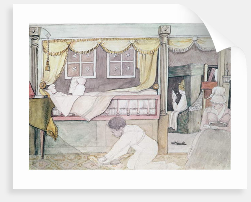 The de Neuville Cabin on the Eurydice, 1816 by Anne Marguerite Hyde de Neuville