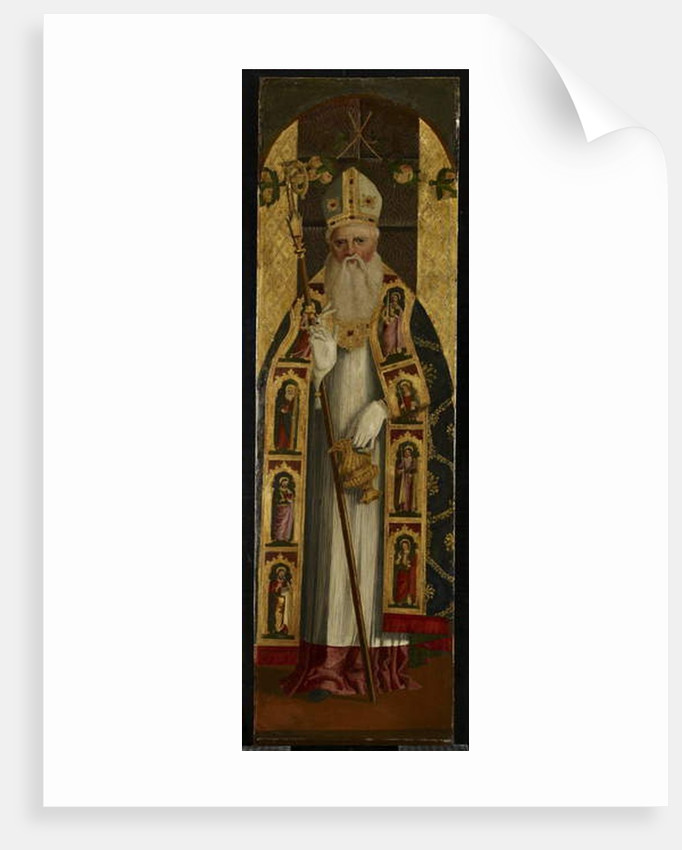 A Holy Bishop, late 15th century by Alvise Vivarini