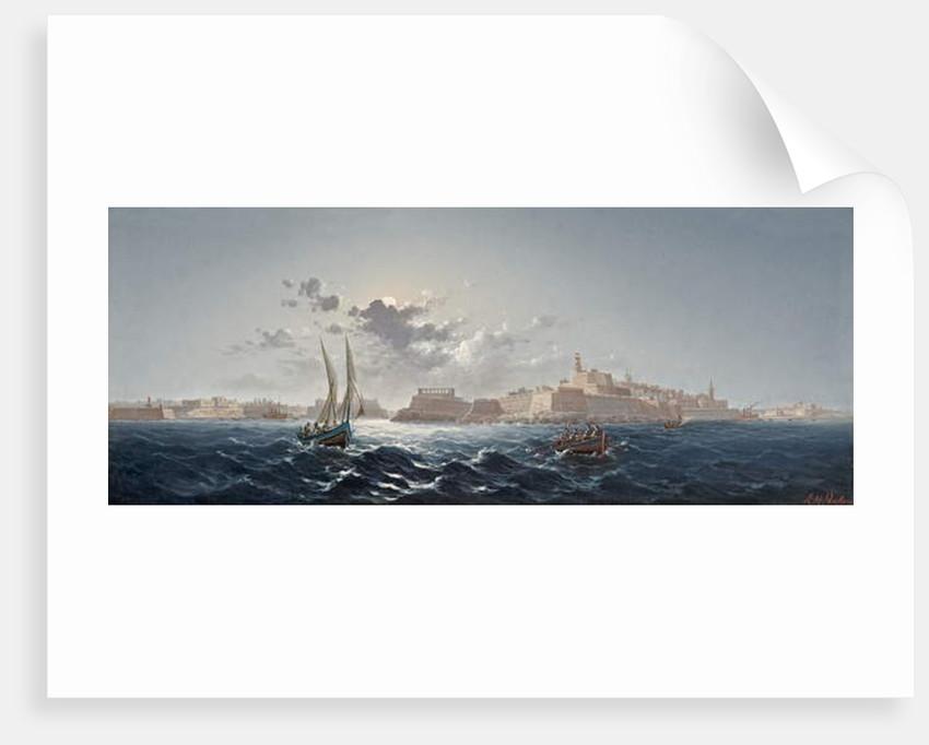 St. Elmo, Valletta, Malta - Moonlight by Luigi Maria Galea