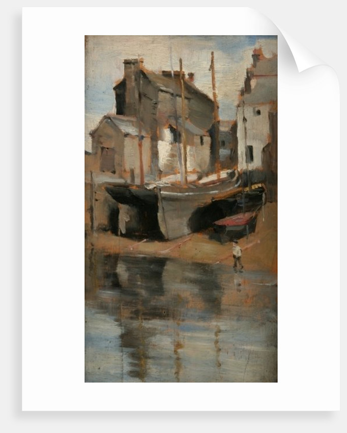 Boats and Cottages by Norman Garstin