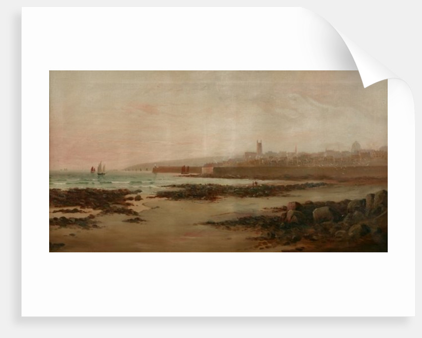 Penzance from Chyandour Beach, 1900 by Huguet Le