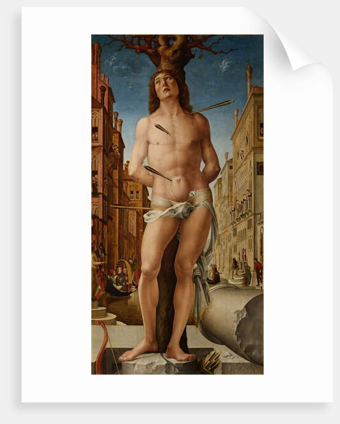 Saint Sebastian, 1495-c.1500 by (c.1445-1527) Liberale da Verona