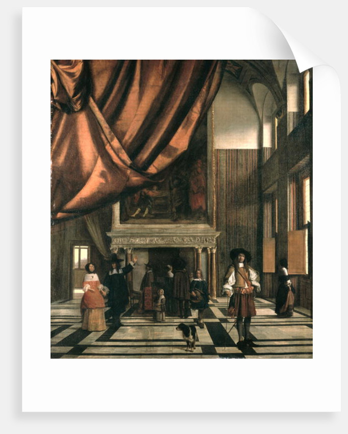 The Council Chamber of the Burgermasters by Pieter de Hooch