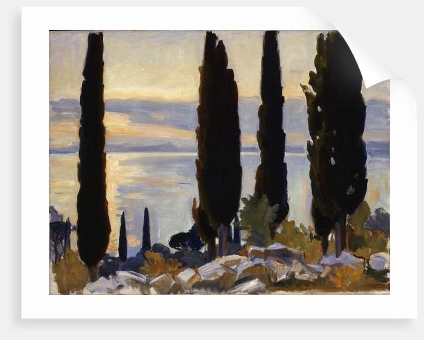 Cypress Trees at San Vigilio, 1913 by John Singer Sargent