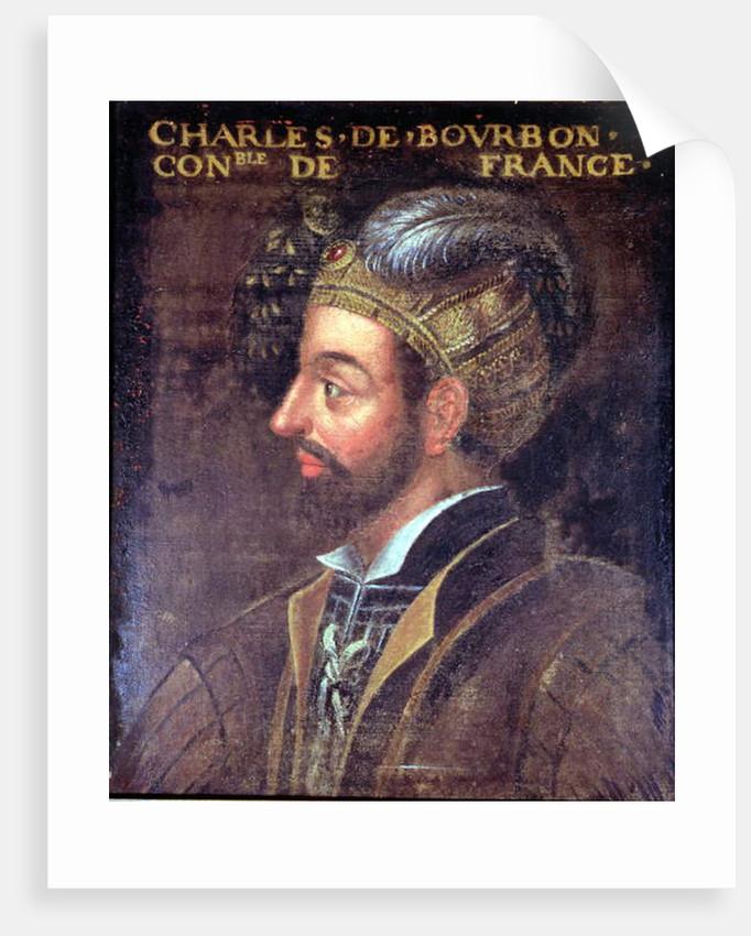 Portrait of Charles III Duke of Bourbon, 1617-38 by French School