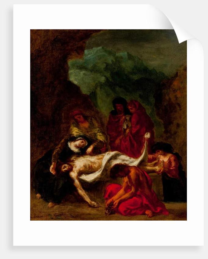 Le Christ au tombeau, 1847-49 by Ferdinand Victor Eugene Delacroix