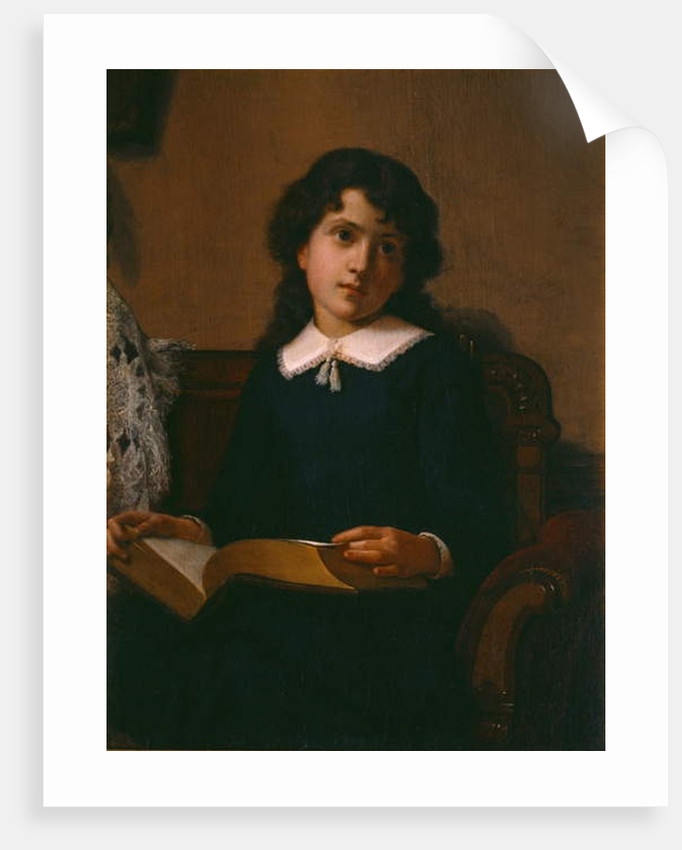 Portrait of a Young Girl by Lemuel Everett Wilmarth