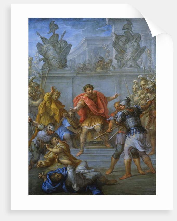 Emperor Claudius preventing the killing of his attackers by Lazzaro Baldi