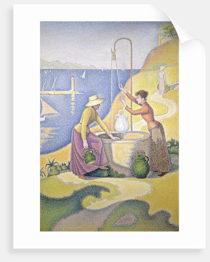 Young Women of Provence at the Well, 1892 by Paul Signac