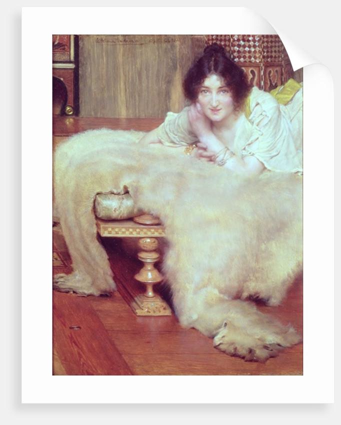 A Listener: The Bear Rug, 1899 by Lawrence Alma-Tadema