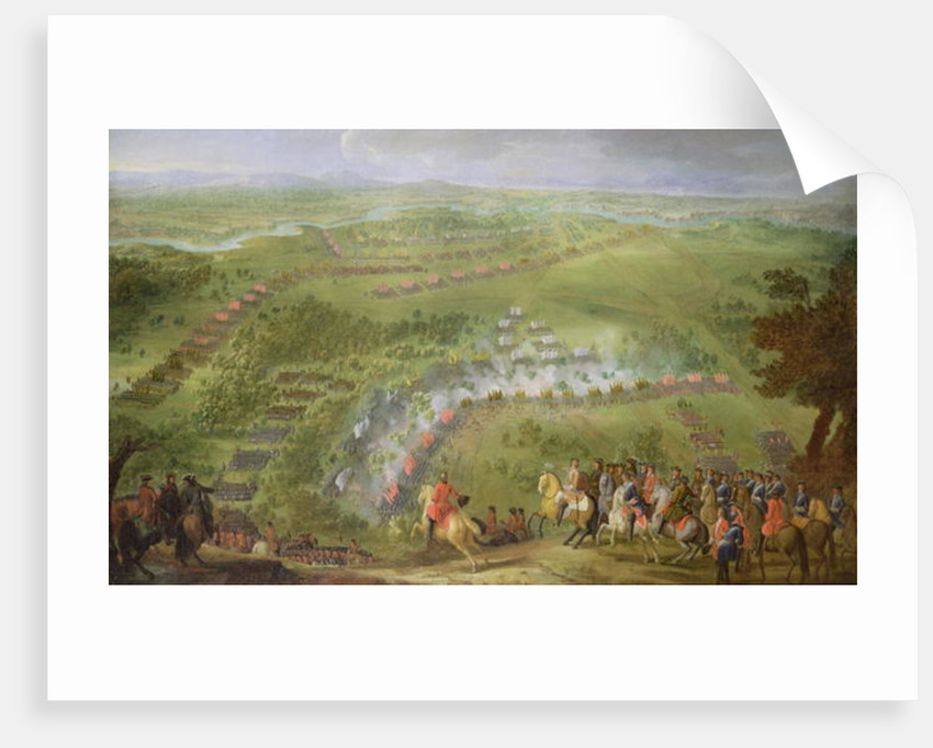 The Battle of Lesnaya in 1708 by Pierre-Denis Martin
