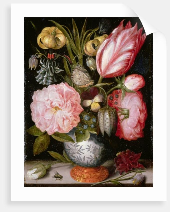 Still Life of Flowers in a Porcelain Vase by Ambrosius the Elder Bosschaert