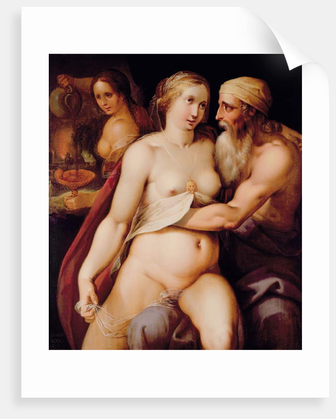 Lot and his Daughters by Lazarus van der Borcht