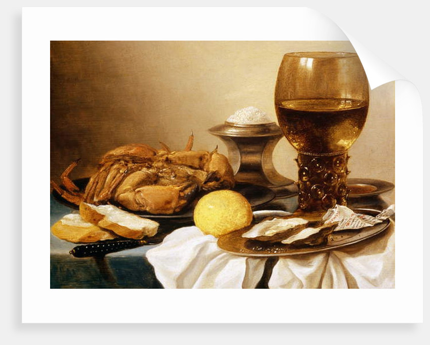 A Still Life of a Crab on a Pewter Plate by Pieter Claesz