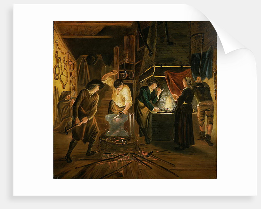 The Blacksmith's Forge by Johannes Dircksz van Oudenrogge