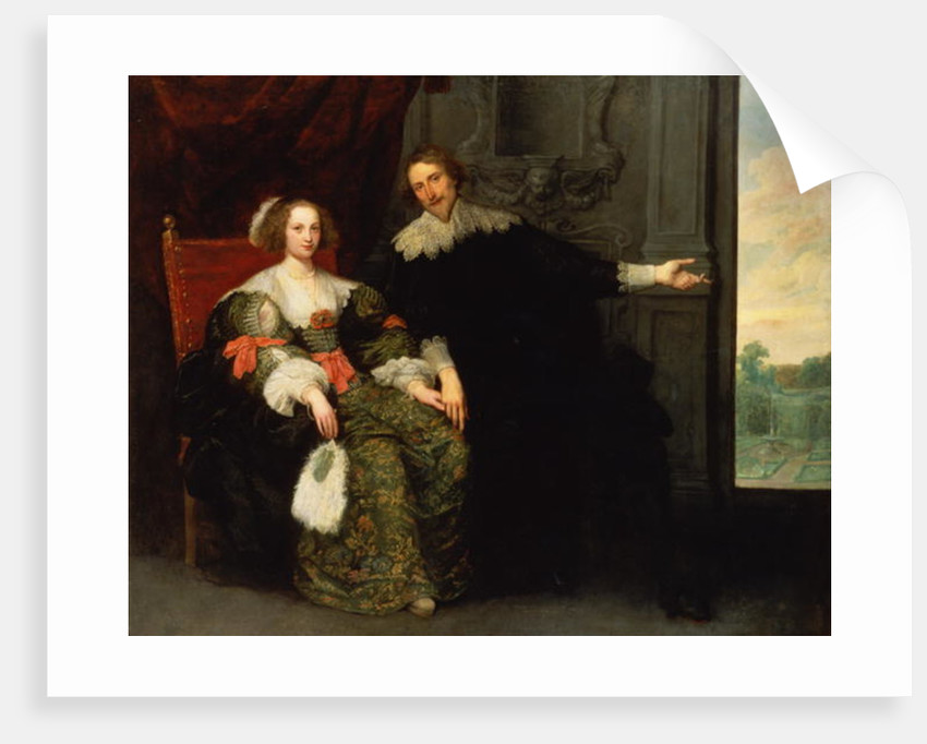 Portrait of a man and his wife by Cornelis de Vos