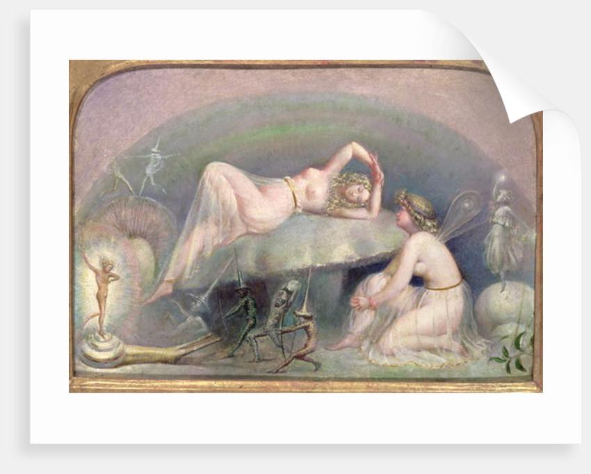 Fairy resting on a Mushroom, c.1860 by Thomas Heatherley