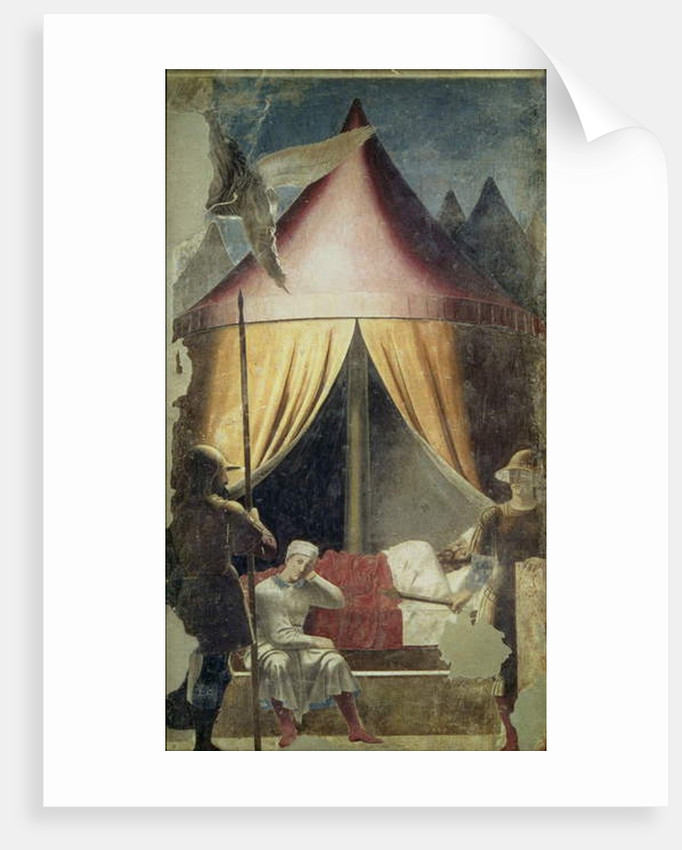 The Dream of Constantine, from The Legend of the True Cross cycle, completed 1464 by Piero della Francesca