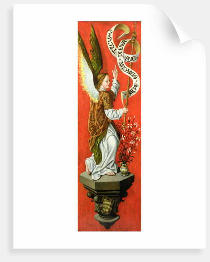 Angel Holding a Banner by German School