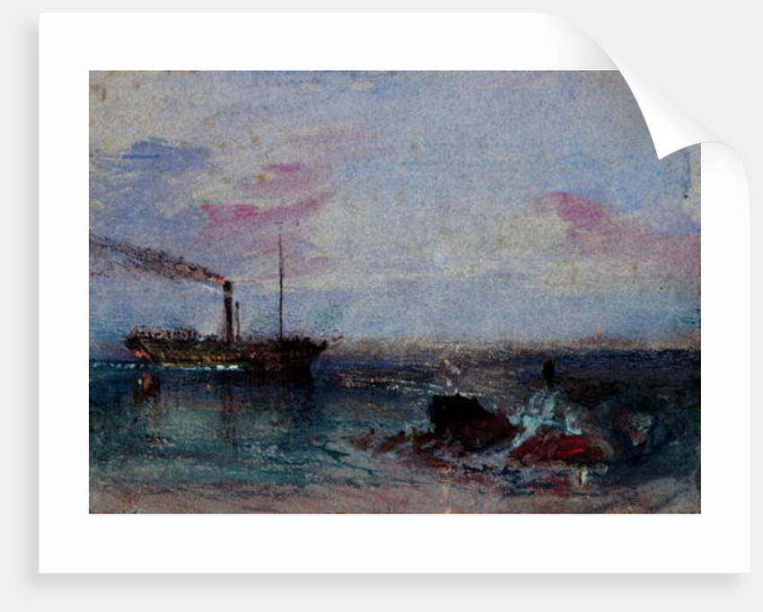 Seascape with a Boat by Joseph Mallord William Turner