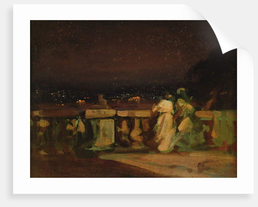 Watching Fireworks at St. Cloud by Louis Charles Auguste Couder