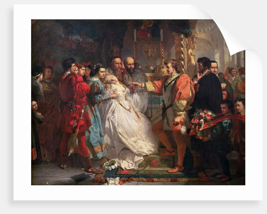 Claudio, deceived by Don John, accuses Hero, from 'Much Ado About Nothing' by Marcus Stone