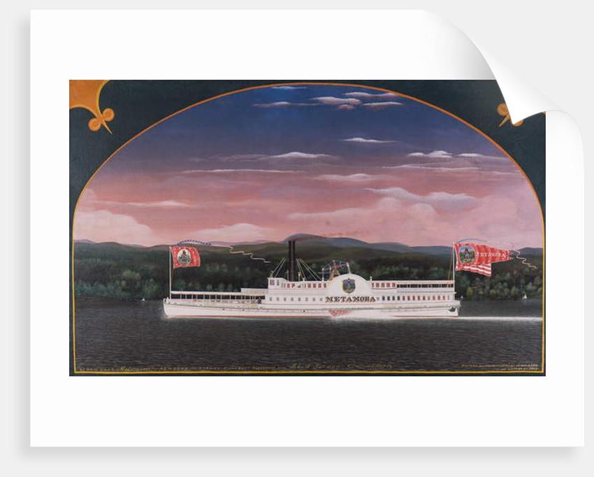 Paddle Steamboat Metamora, 1859 by James Bard
