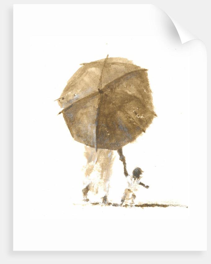 Umbrella & Child 1 by Lincoln Seligman