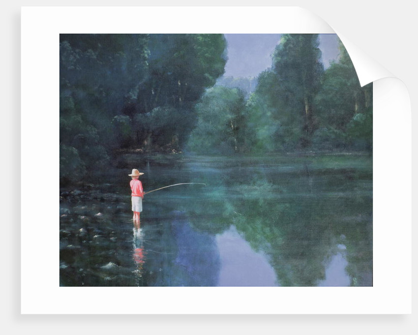 Child Fishing by Lincoln Seligman