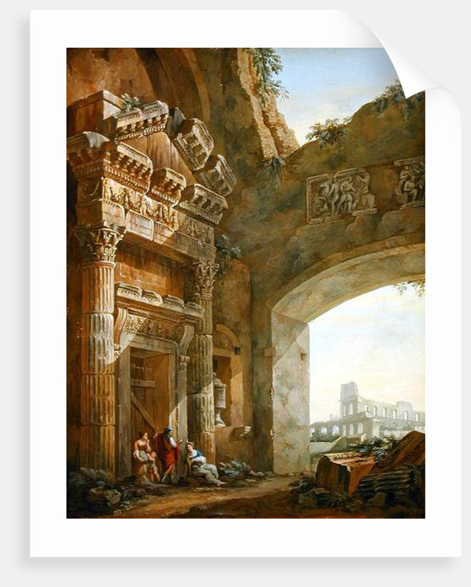 Architectural Ruins by Charles Louis Clerisseau