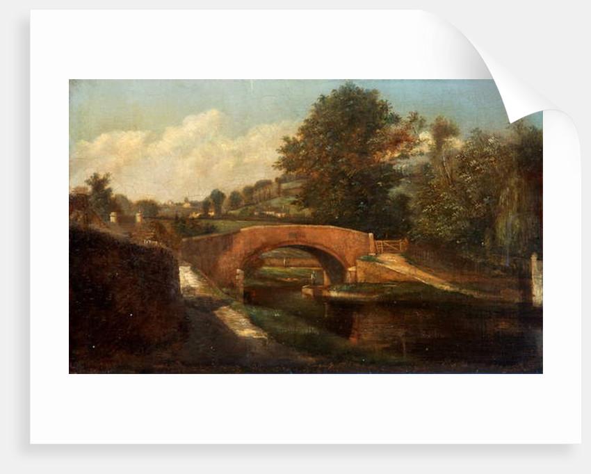 Canal Bridge, Brimscombe, Gloucestershire by Désiré Delaplace-Gérardin