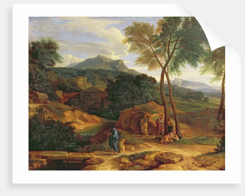 Landscape with Conopion Carrying the Ashes of Phocion by Jean Francois I Millet