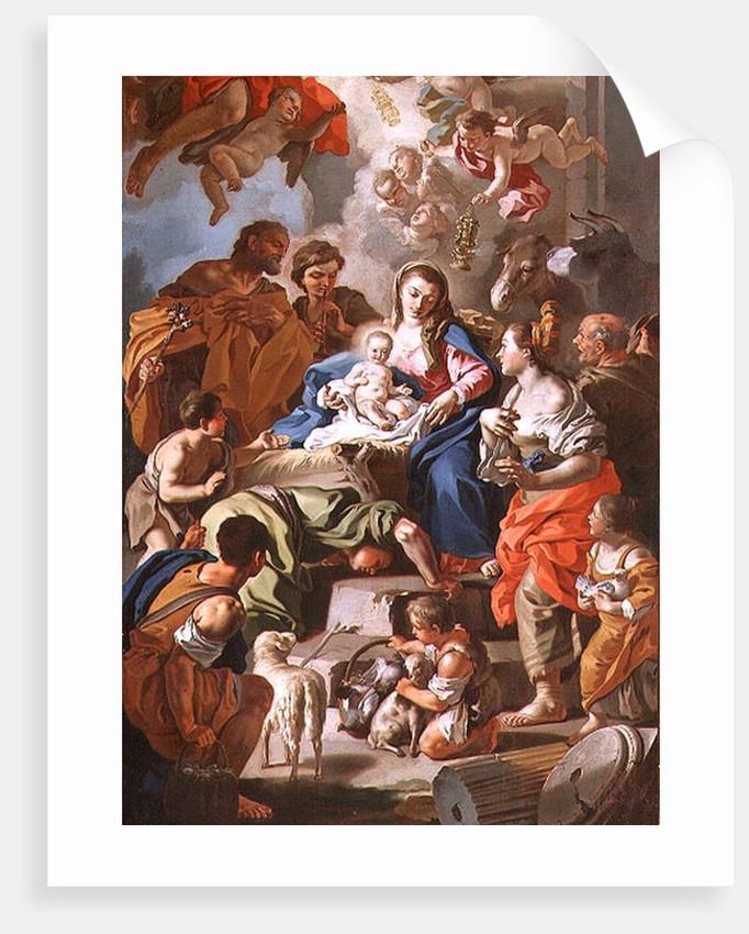 The Adoration of the Shepherds by Francesco de Mura