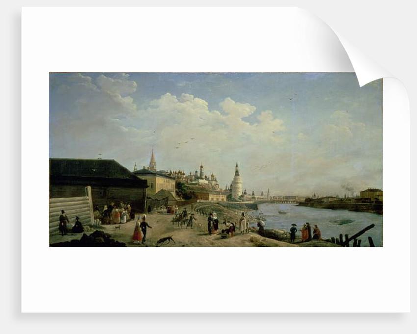 View of the Kremlin from the Kamenniy Bridge, Moscow by Gerard de la Barthe