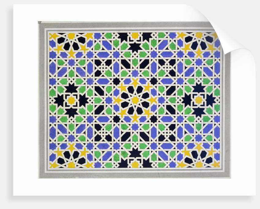Mosaic in dado of the door in the hall of the Two Sisters, Alhambra by James Cavanagh Murphy