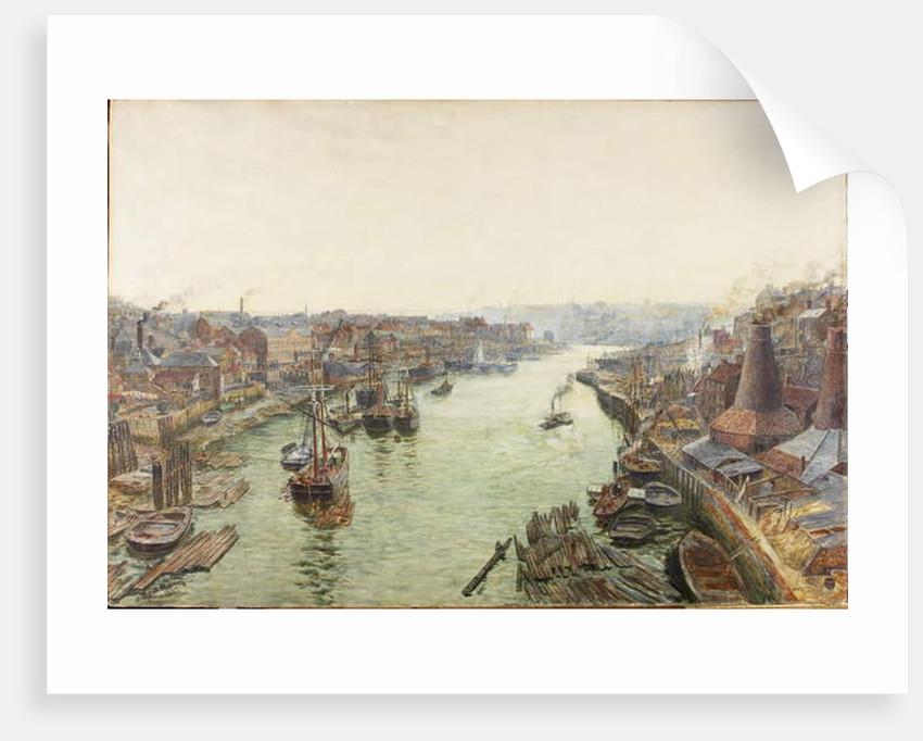 Sunderland, Holmes Wharf, or River Wear looking East from the Bridge by Thomas Marie Madawaska Hemy