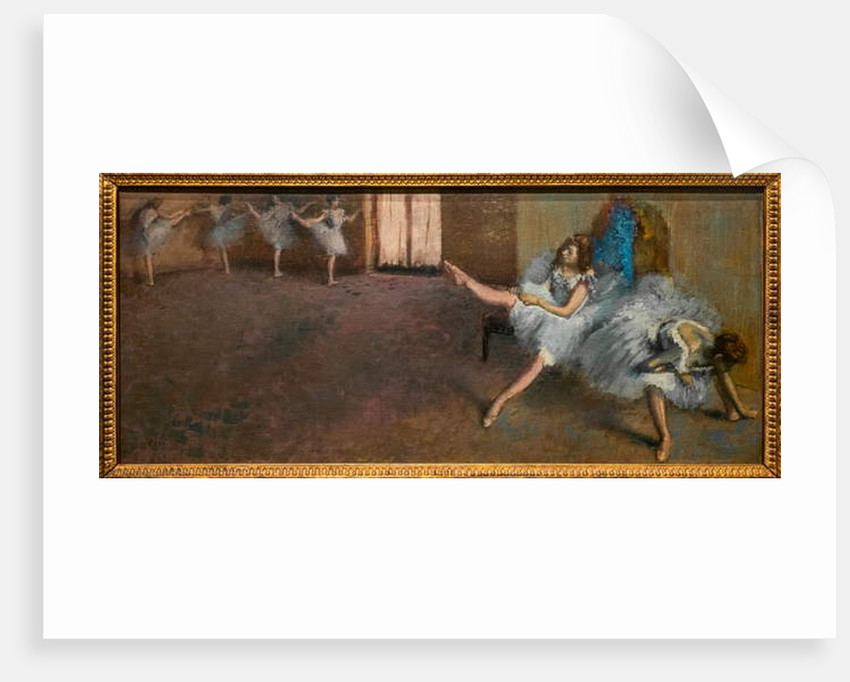 In a repetition room. 1890-1892. Oil on canvas. by Edgar Degas
