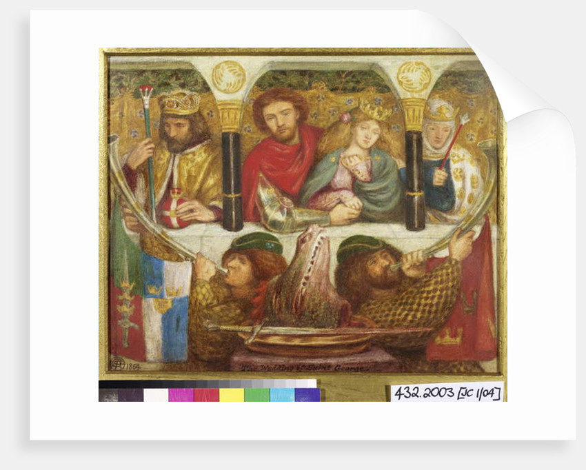 The Wedding of St. George, 1864 by Dante Gabriel Charles Rossetti