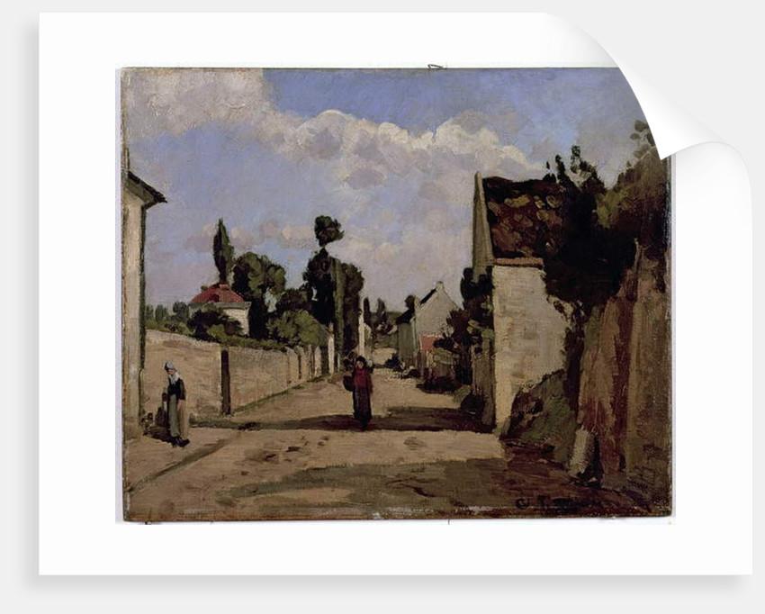 Rue de l'Hermitage, Pontoise, c.1867 by Camille Pissarro
