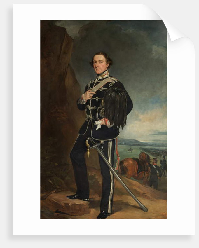 The 2nd Lord de Tabley as Colonel Commandant of the Earl of Chester's Yeomanry Cavalry by Francis Grant