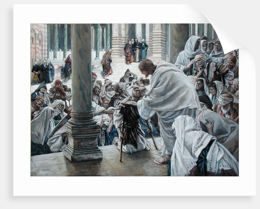 The Healing of the Lame in the Temple by James Jacques Joseph Tissot