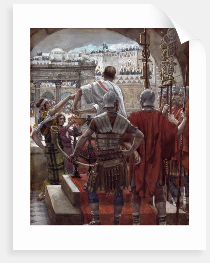 Pilate Washes His Hands by James Jacques Joseph Tissot