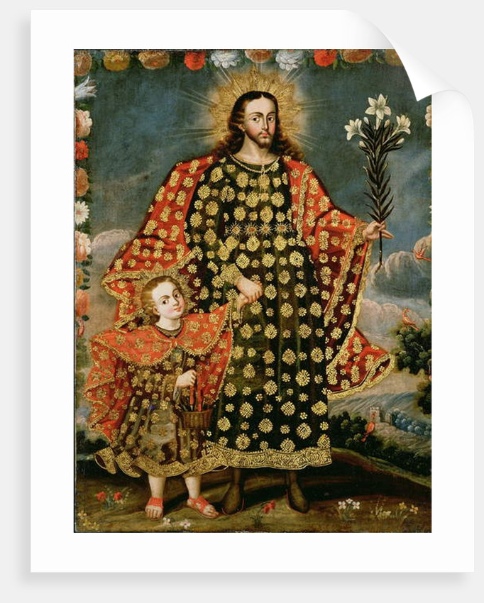 St. Joseph and the Christ Child, late 17th - early 18th century by School Peruvian