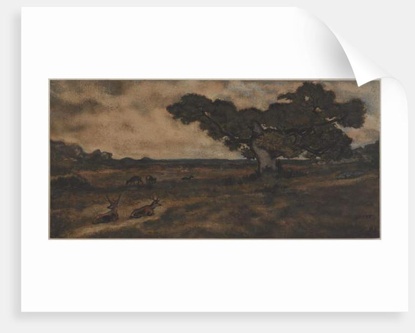 Bucks Near a Tree by Antoine Louis Barye