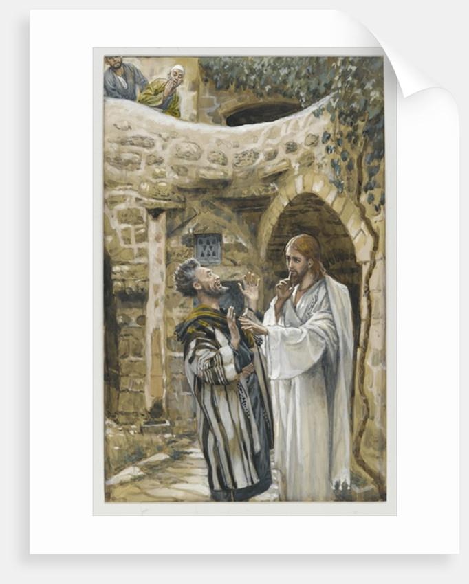 Jesus Heals a Mute Possessed Man by James Jacques Joseph Tissot