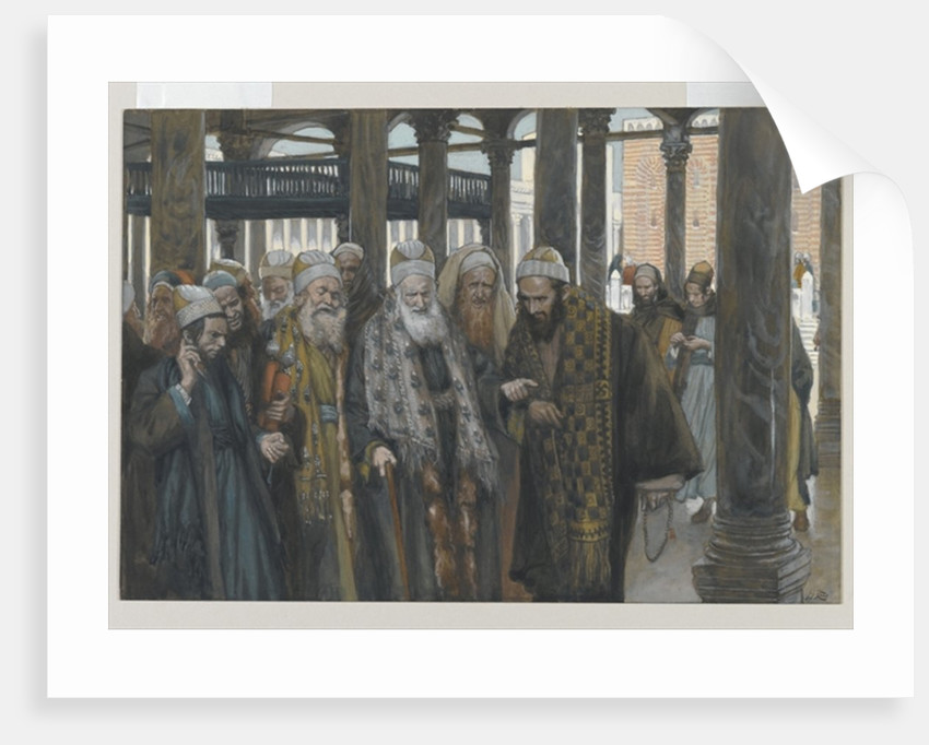 The Chief Priests Take Counsel Together by James Jacques Joseph Tissot
