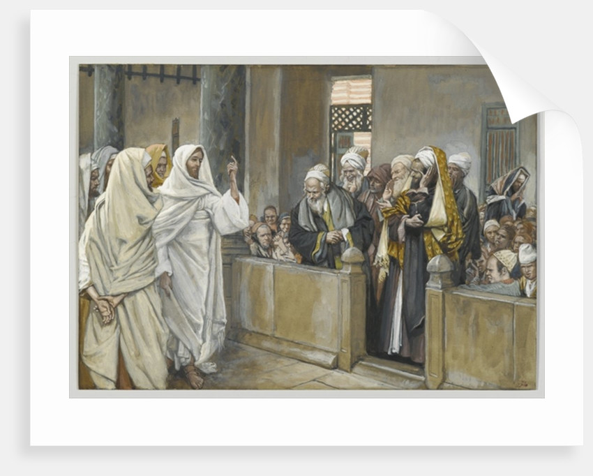 The Chief Priests Ask Jesus by What Right Does He Act in This Way by James Jacques Joseph Tissot