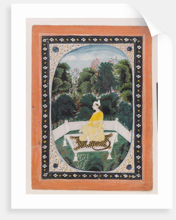 Man meditating in a garden setting, c.1820-40 by Indian School