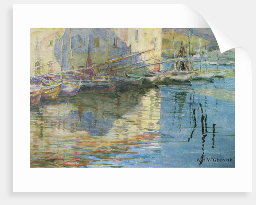 Boats in Venice by William Holt Yates Titcomb